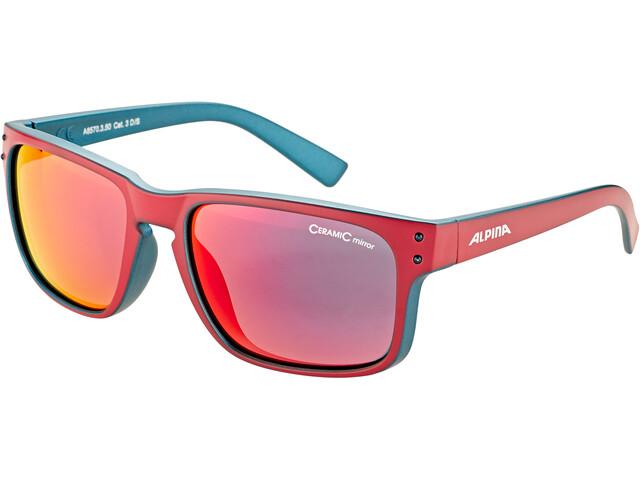 Alpina Kosmic Gafas, cherry matt-indigo/red mirror